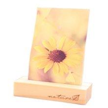 Set of 2 ZAKKA Wooden Memo/Photo/Business Card Holder Desk Accessory 1.7*2.3*7CM