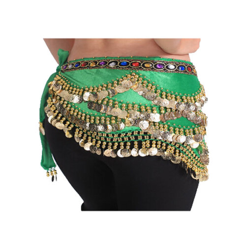 Atrovir Style with 318 Shinning Sequin Belly Dance Hip Scarf Costume for Dancing