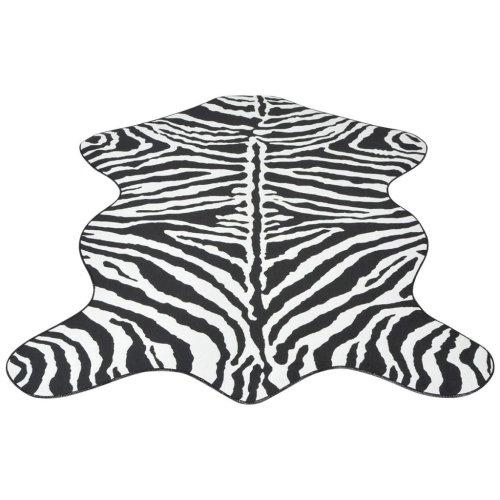 vidaXL Shaped Rug 150x220 cm Zebra Print