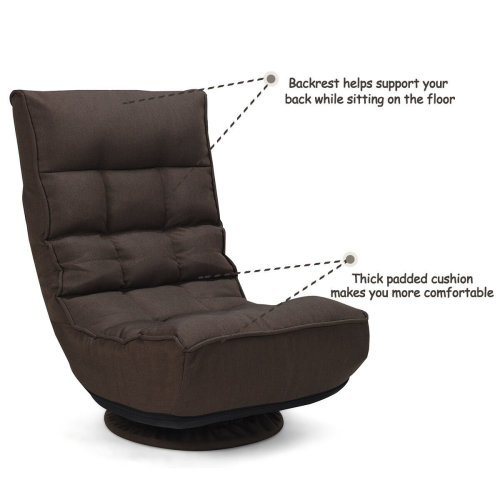 360 Degree Ergonomic Swivel Lazy Sofa Chair Adjustable