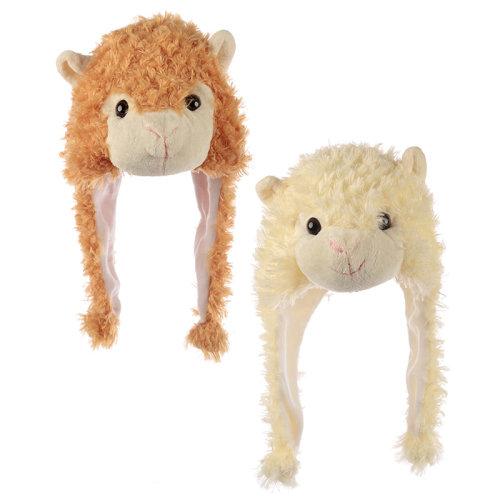 Fun Plush Llama Hat (One Size)