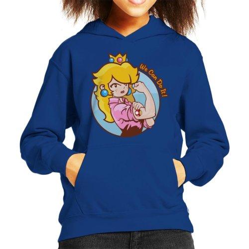 Super Mario Princess Peach We Can Do It Kid's Hooded Sweatshirt