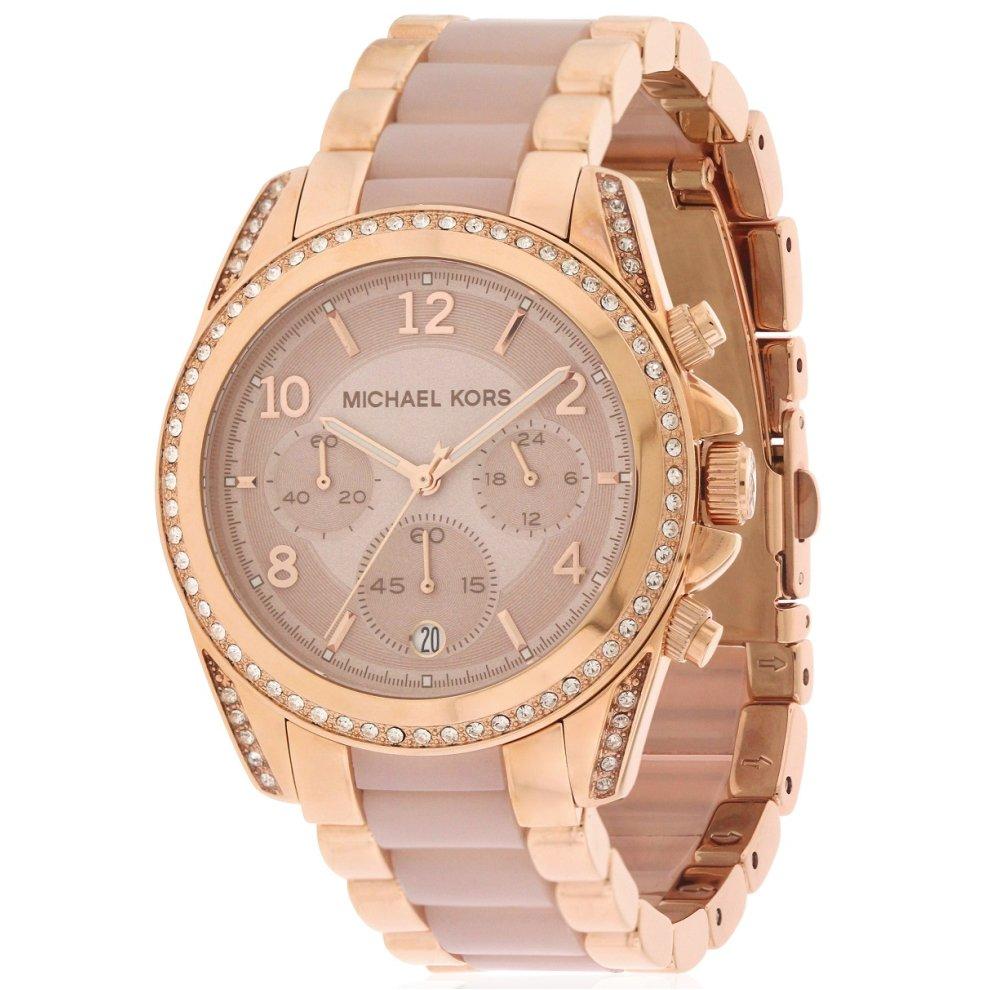 dec981ce162d Michael Kors Blair Rose Gold-Tone Chronograph Ladies Watch MK5943 on ...