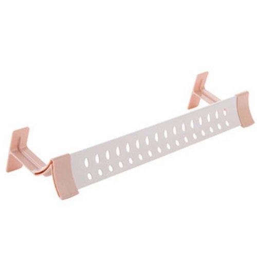 2 Pcs Bathroom Durable Stomatal Single Pink Towel Bar Towel Bar