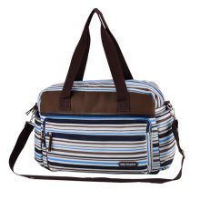Smart Big Capacity Functional Diaper Bags For Mummy  Strips Blue (42*31*15cm)