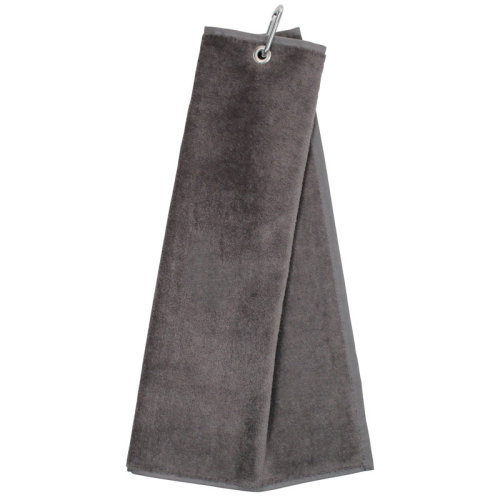 Tri Fold Velour Golf Towel