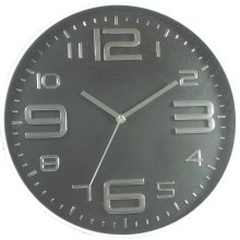 35cm Black Modern Quartz Wall Clock - New Home Indoor Mounted Time Kitchen -  new home indoor wall mounted time clock modern quartz black kitchen