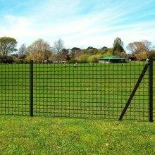 vidaXL Euro Fence Set 10x1.96 m Steel Grey