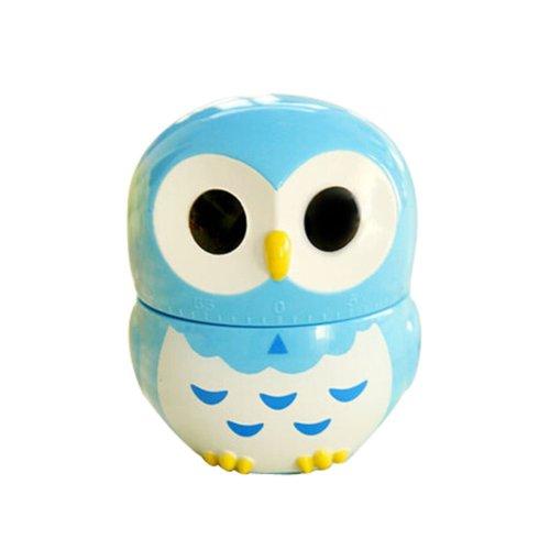 Cute Owl Mechanical Movement Kitchen Timer/Reminder-60 Minutes BLUE