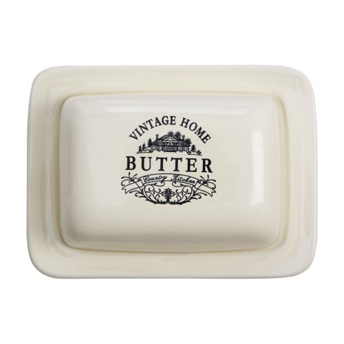 Vintage Home Butter Dish - Cream