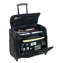 """Travelwell Dual Handle Rolling 17"""" Inches Heavy Duty Catalog Pilot Laptop Case"""