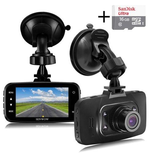 "Senwow Dash Cam (16GB Card Included) 1080P Full HD Car Camera 2.7"""