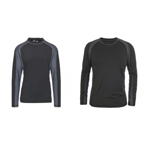 Trespass Mens Explore Long Sleeve Crew Base Layer Top T-Shirt