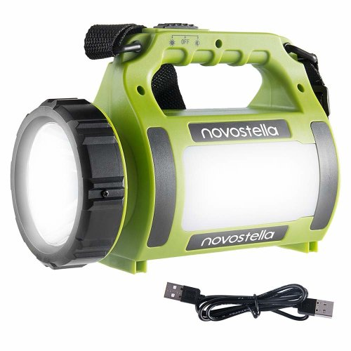 NOVOSTELLA Ustellar Rechargeable CREE LED Torch, Multi-functional Camping Light, Waterproof LED Spotlight Searchlight, High Power Beam Flashlight,...