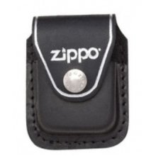 Black Leather Zippo Lighter Pouch With Clip - New -  pouch clip black leather lighter new