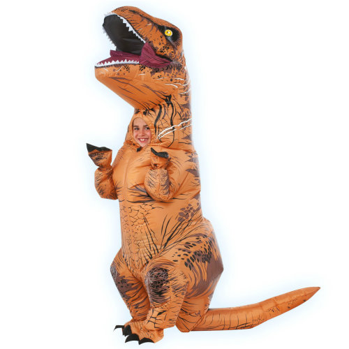 Kids Official Jurassic World Inflatable T-Rex Dinosaur Costume