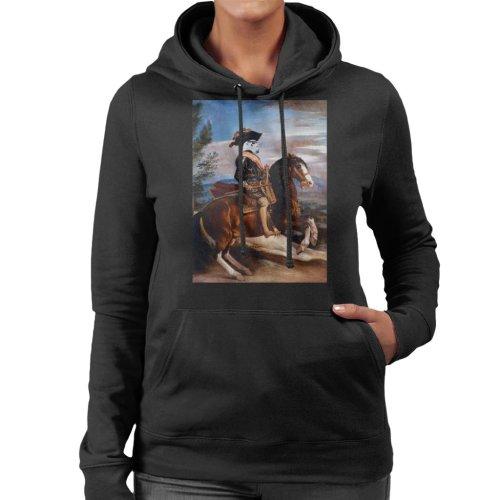 Original Stormtrooper Philip Of Spain Painting Parody Women's Hooded Sweatshirt