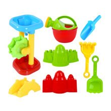 Summer Fun 8 Pieces Beach Sand Kid's Toy Beach Tool Playse (Colors May  Vary) B
