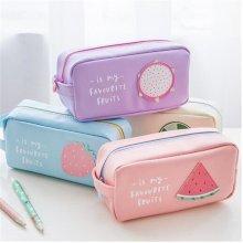 Cute Fruit Pen Bag Pencil Case Candy Color School Bag