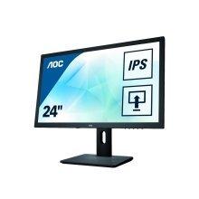 AOC I2475PXQU 24In Widescreen IPS Monitor -DP DVI HDMI VGA