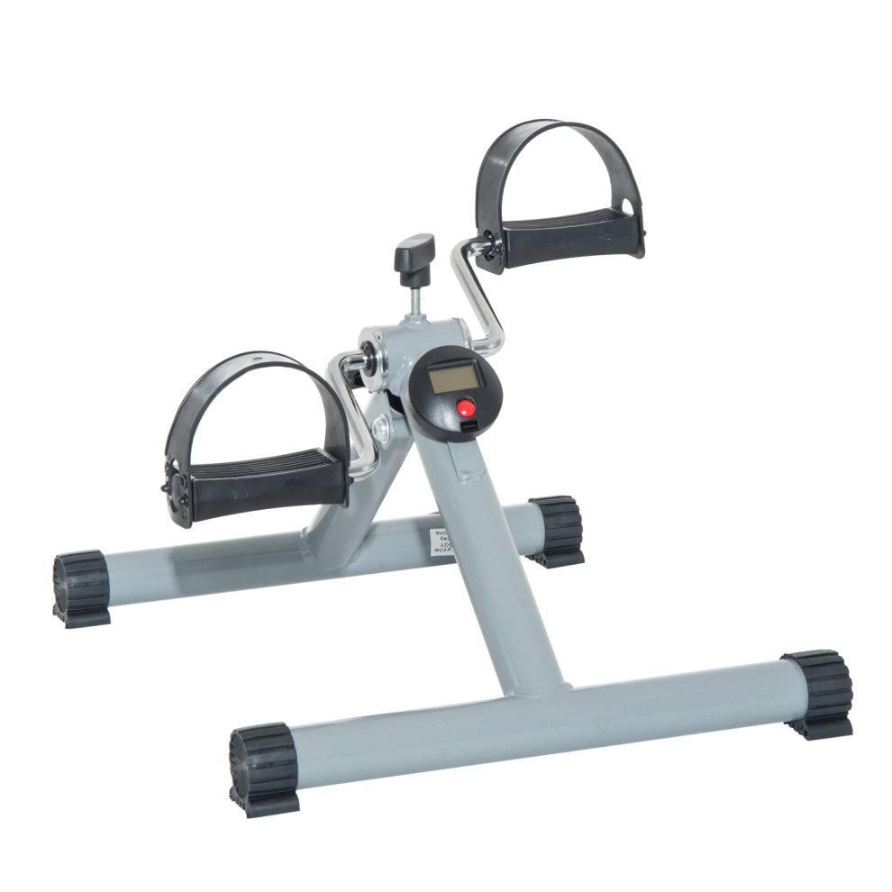 HOMCOM Portable Pedal Exercise Machine-Grey