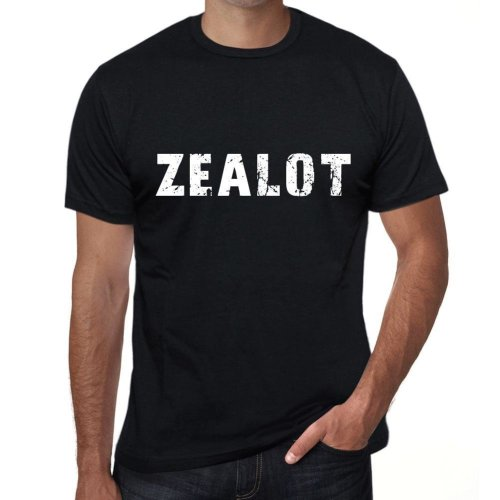 zealot Mens Vintage T shirt Black Birthday Gift 00554
