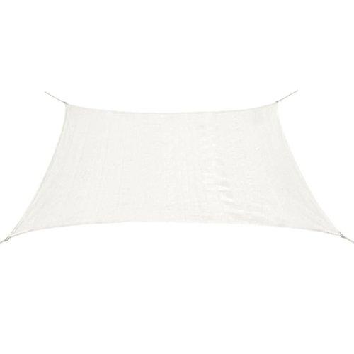 43015 vidaXL Sunshade Sail HDPE Square 3,6x3,6 m White