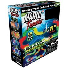 Magic Tracks Flexible Track Set with Bonus Glow in The Dark Car and Wheels Car