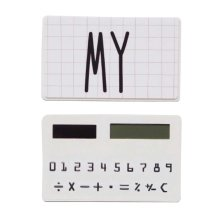 Creative Solar Calculator Cute Mini Calculator, White