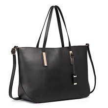 Miss Lulu Large Leather Shoulder Handbag Laptop Tote Bag