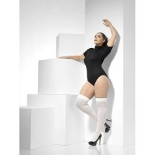 Smiffy's 43555 Opaque Hold-ups (large/x-large) -  ladies sexy stockings adults fish net french maid hold ups hosiery fancy dress