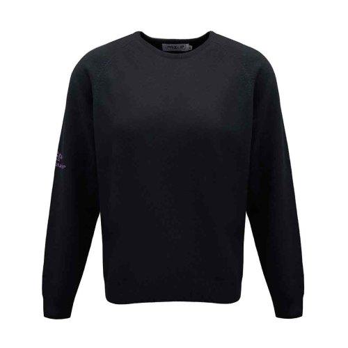 ProQuip Golf Julia Ladies Lambswool Sweater Crew Neck Jumper Black X-Large