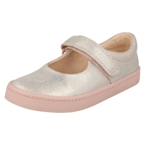 Girls Clarks Holographic Detailed Shoes City Gleam - G Fit
