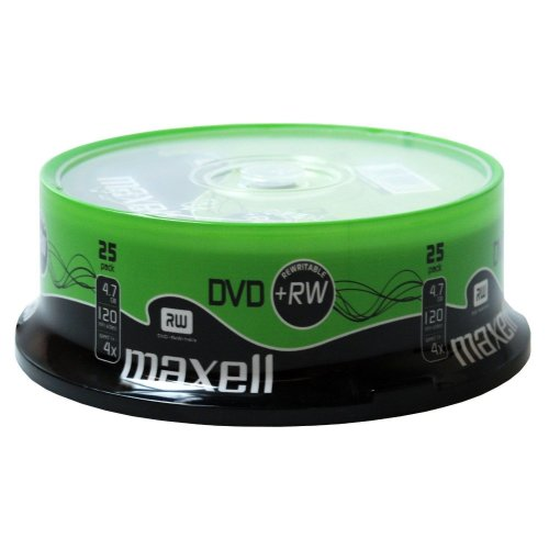 DVD+RW 25 Pack Spindle 4x Speed