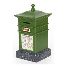Creative Mailbox Cute Piggy Bank For Saving Money Coin Bank Square Green
