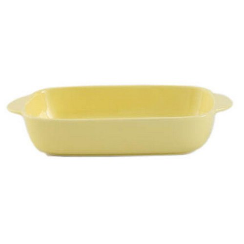 Rectangle Ceramic Bakeware Kitchen Cookware spaghetti Oven Baking Tray,Yello