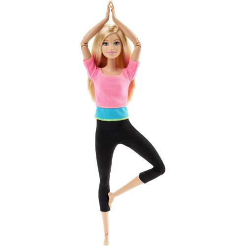 Barbie Endless Moves Doll with Pink Top