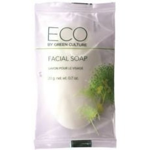 Eco by Green Culture Hotel Amenities Facial Soap Bar, 20gm (500 Pack)