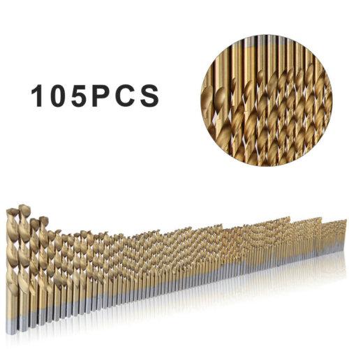 105pc Cobalt Drill Bits Set for Stainless Steel Metal HSS-Co Cobalt NEU