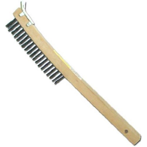 Abco Products 01712 Curved Long Handle Wire Brush With Scraper