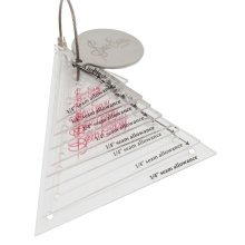 Sew Easy Mini Triangle Template Set 8 sizes 0.75in to 3in