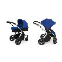 Ickle Bubba Stomp V2 2-in-1 Pushchair - Blue / Silver