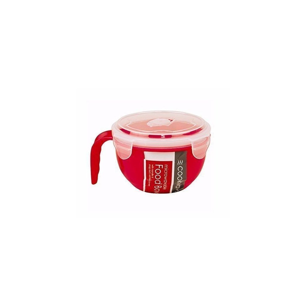 4x Microwavable Food Bowl 940ml with Airtight Lid /& Handle for Kitchen /& Lunch