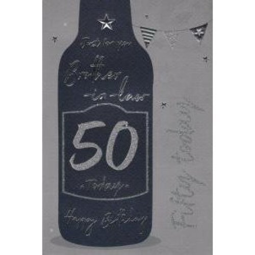 Brother In Law 50th Birthday Card On OnBuy