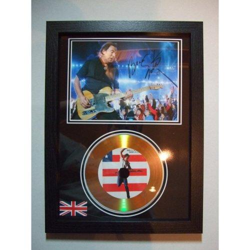Bruce Springsteen SIGNED GOLD DISC DISPLAY