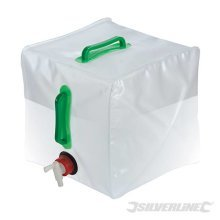 20 Litre Collapsible Water Container - Silverline 159729 20ltr Camping -  water collapsible container silverline 159729 20ltr camping