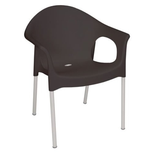 Hannah Garden Chair Stackable Chair with Armrests - Pack of 4