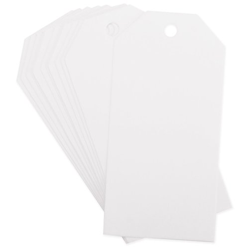 """12pk Quilled Creations Gift Tags 2 x 4"""" White"""