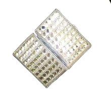 Double Rhinestone Cigarette Case Women Long Cigarette Holder Box Gift, Clear