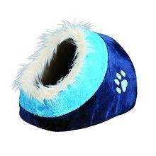 Trixie Minou Cuddly Cat /dog Cave, 35x26 41cm, Dark Blue/blue - Cave Blueblue -  cave trixie minou dark blueblue cuddly cat dog 35x26 41cm fur igloo